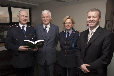 Superintendent Con O'Donohue, Robert Pierse, Inspector Helen Deely and Riobard Pierse